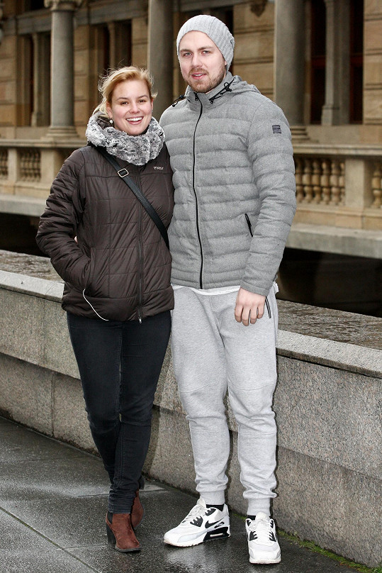 Patricie Solaříková s přítelem Markem Fryčákem