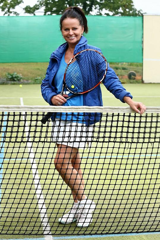 Adriena Sobotová hrála čtyřhru.