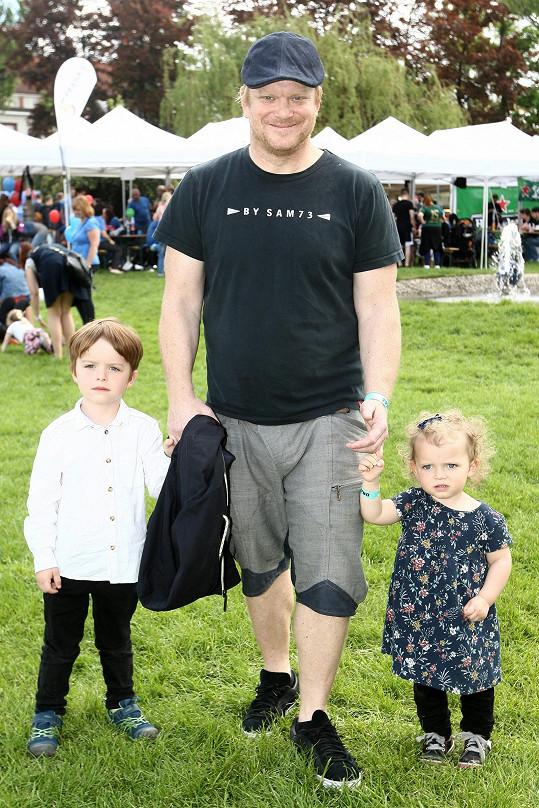 David s nejmladšími dětmi