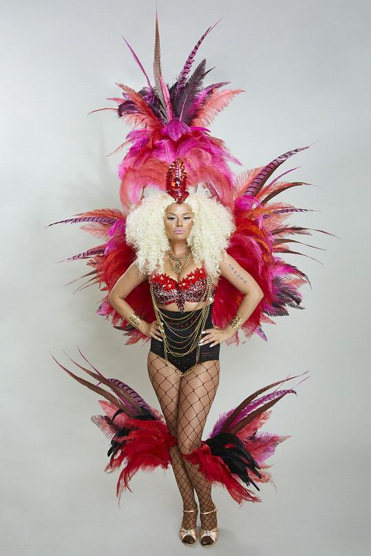 Erika jako karibská diva Nicki Minaj