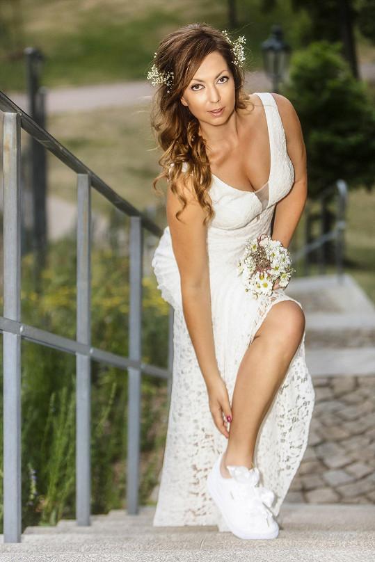 V roli modelky uplatnila i své přednosti.
