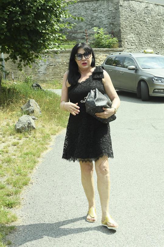 Naposledy se ve společnosti objevila na pohřbu Hany Krampolové.
