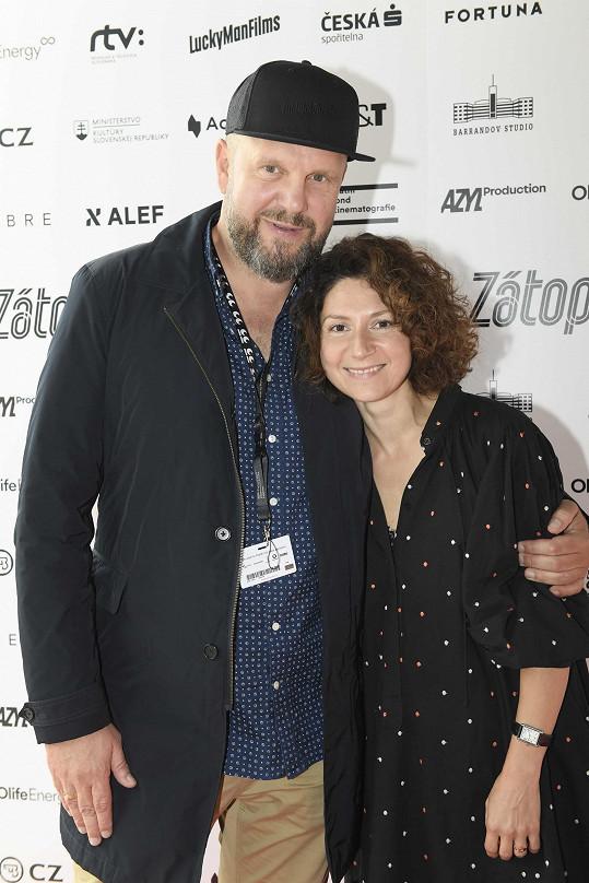David se svou ženou Marthou