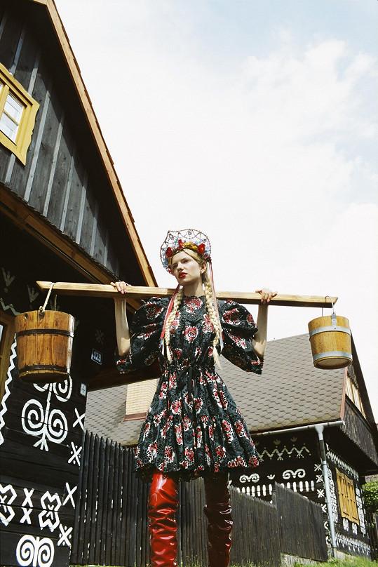Jako kulisa posloužila slovenská vesnice.