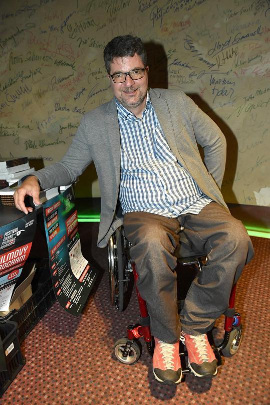 Se životem na vozíku se podle moderátora stoprocentně smířit nedá.