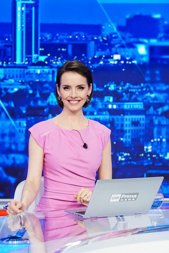 Gabriela Lašková se z mateřské vrátila zpět do moderátorského křesla.