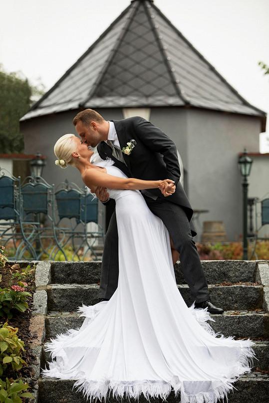 Marek Terezu před obřadem neviděl. Vzhled nevěsty pro něj byl překvapením.