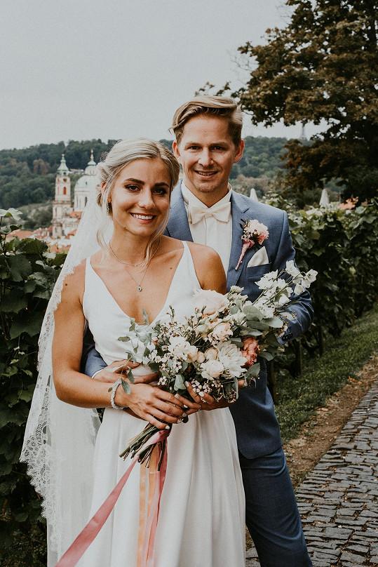 V show Svatba na první pohled si vzala Františka Gébra.
