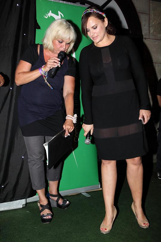 Na pódiu s moderátorkou Markétou Mayerovou