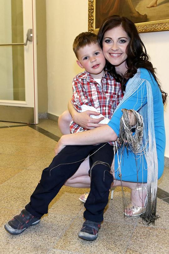 Lenka se synem Tomášem