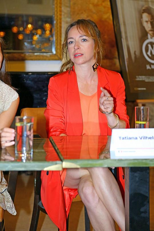 Tatiana Vilhelmová na tiskové konferenci ukázala víc, než sama chtěla.