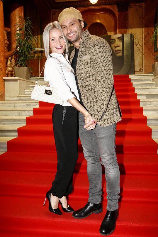 Marek Dědík s přítelkyní