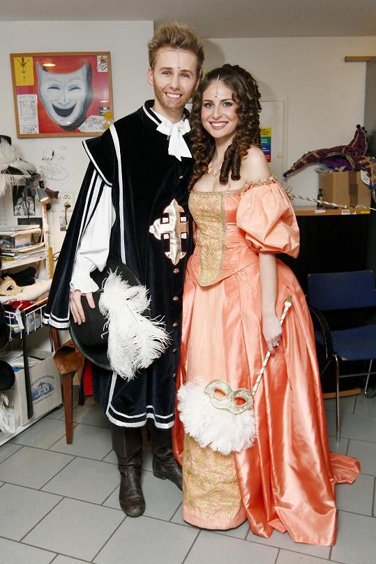 S ní zkoušel i roli Raoula v Muži se železnou maskou, ale na prmeiéře už byl fit.