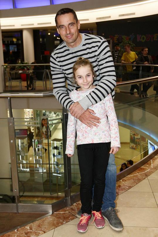 Roman Šebrle s dcerou Kateřinou