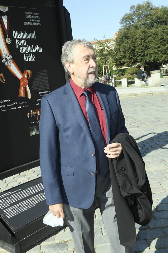 Na rozloučení dorazil i kameraman Jaromír Šofr, který s Menzelem úzce spolupracoval.