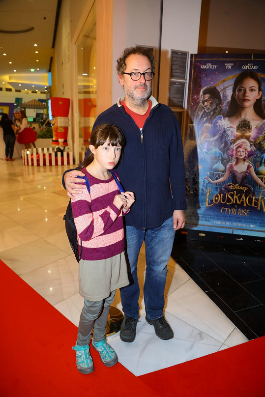 Josef Polášek vyrazil s dcerou do kina.