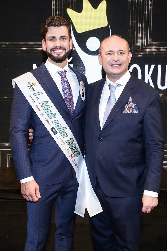 S prezidentem soutěže Davidem Novotným
