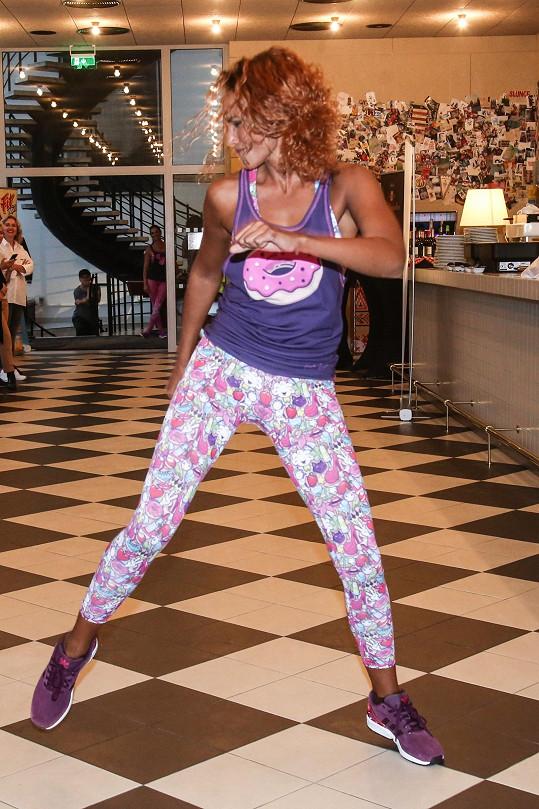 Lejla se na přehlídce sportovního oblečení roztančila...