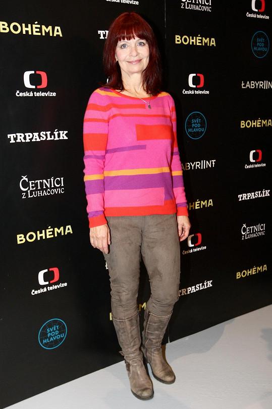 Krbová se o působení v seriálu rozpovídala na tiskové konferenci České televize k jarnímu schématu.