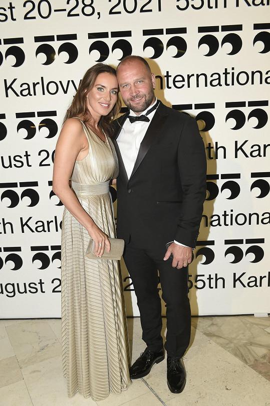 Manželé Lucie a Jiří Šlégrovi přejeli jen na závěrečný večer.