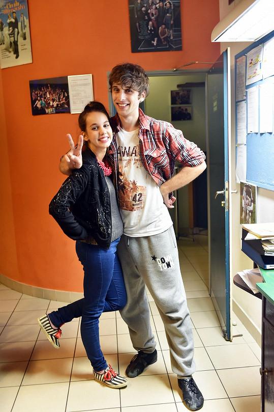 S přítelkyní Míšou Doubravovou