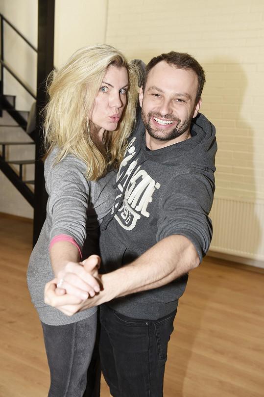 S Markem Dědíkem předvedla i pár tanečních figur.