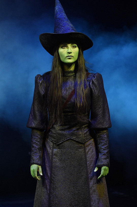 Kateřina jako Elphaba v muzikálu Čarodějka