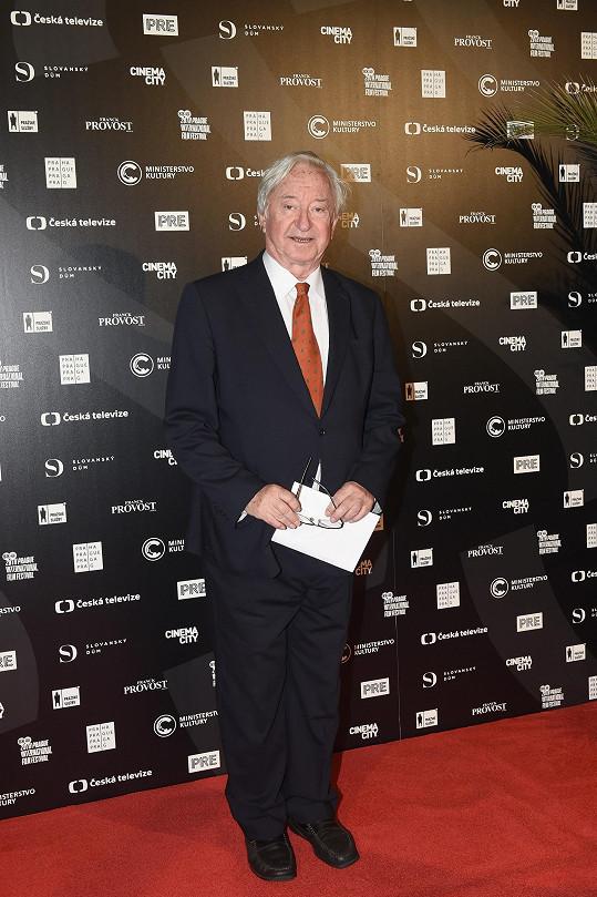 Jiří Lábus na zahájení Febiofestu, kde převezme cenu Kristián za celoživotní přínos kinematografii.