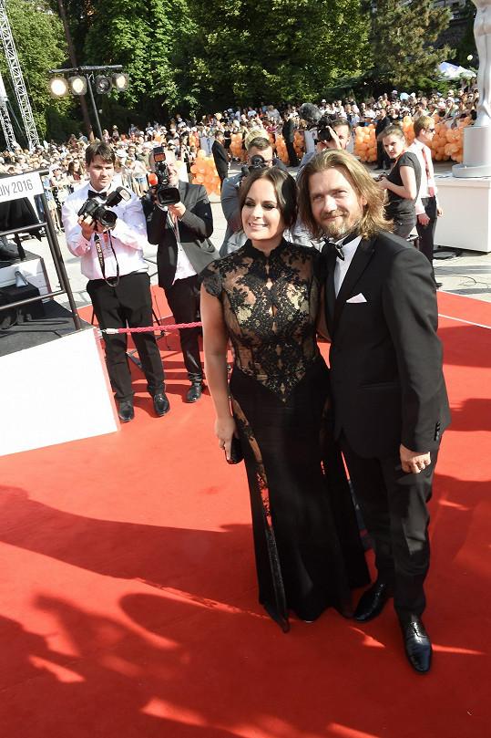 Jitka Čvančarová s manželem Petrem Čadkem