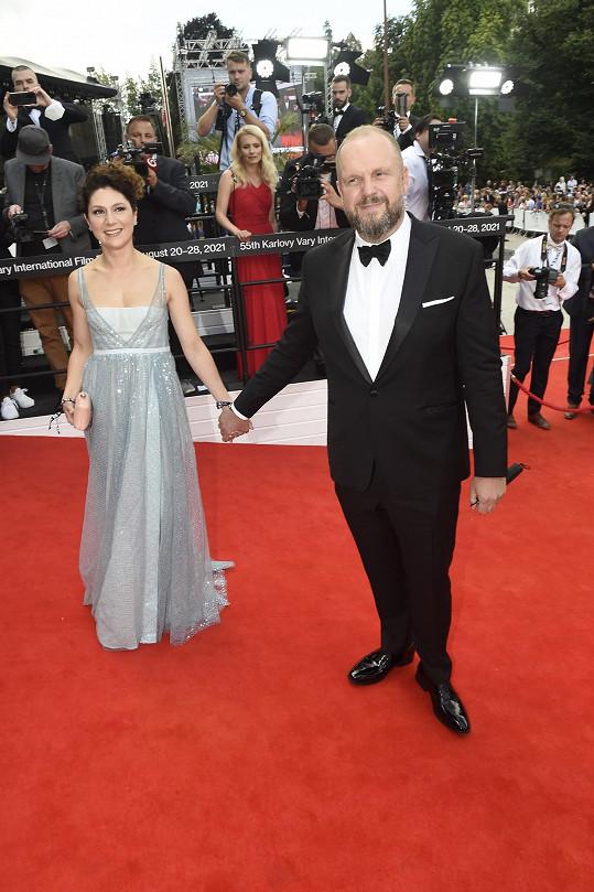 S manželem Davidem Ondříčkem, který Zátopka režíroval.