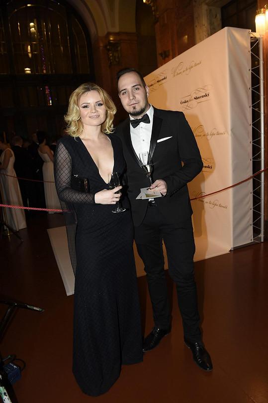 Veronika Stýblová s přítelem