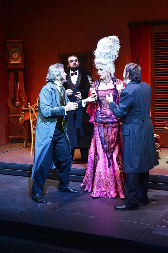 Pavel Rudolf Plasche jako tenor ve Fantomovi opery
