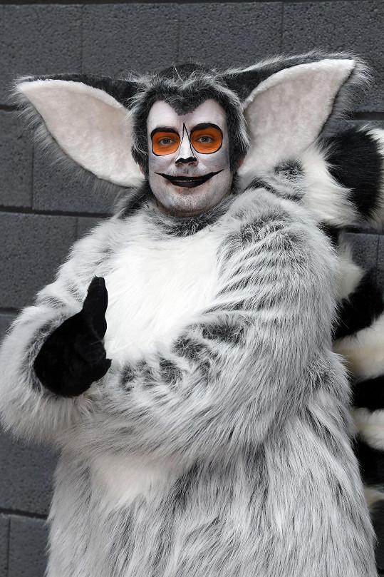 Zdeněk jako lemur Maurice v muzikálu Madagaskar