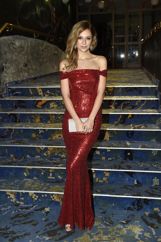 Lucie Kovandová na vyhlášení Miss Czech Republic