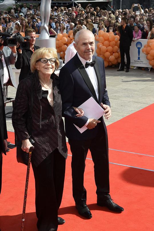 Eva Zaoralová a Marek Eben