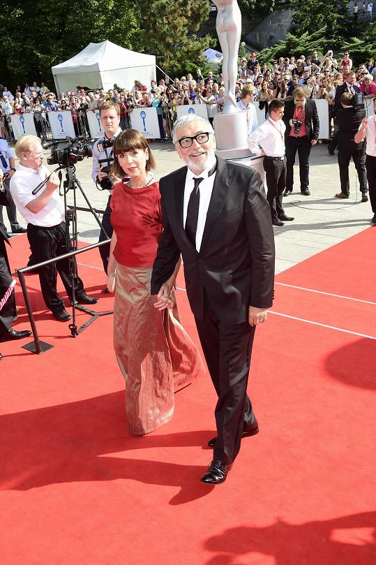 Jiří Bartoška s manželkou Andreou