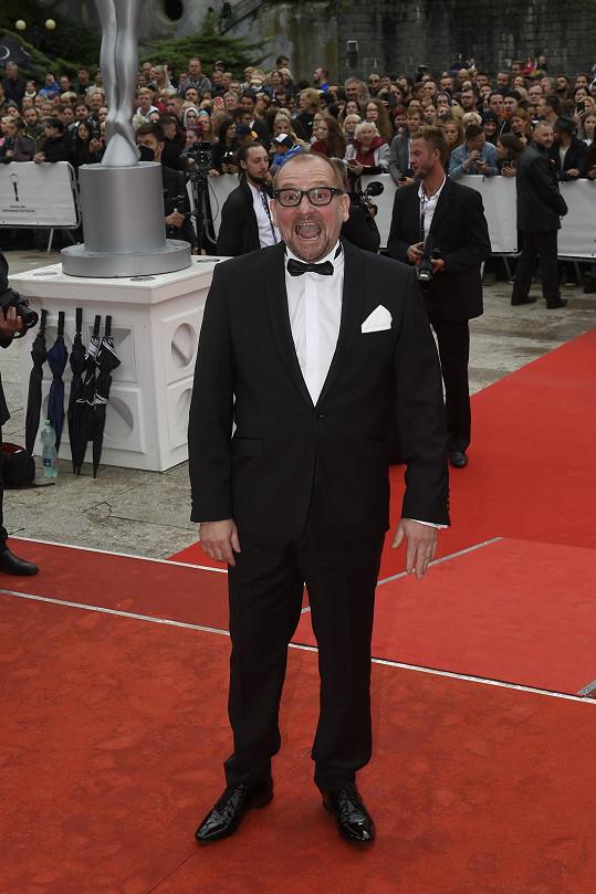 Na červeném koberci se objevil i herec Marek Taclík.