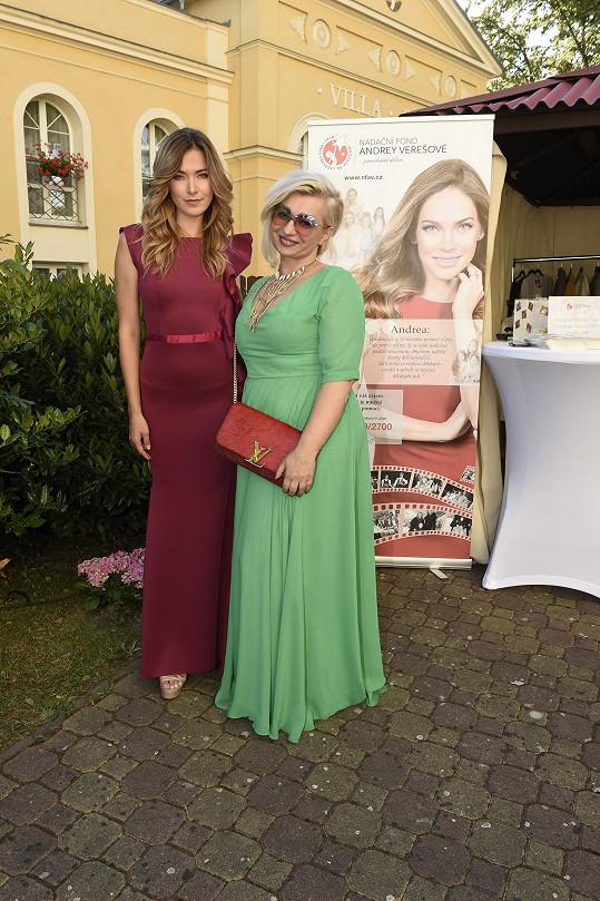 Andrea Bezděková s majitelkou Panorama Spa Alexandrou Krabcovou