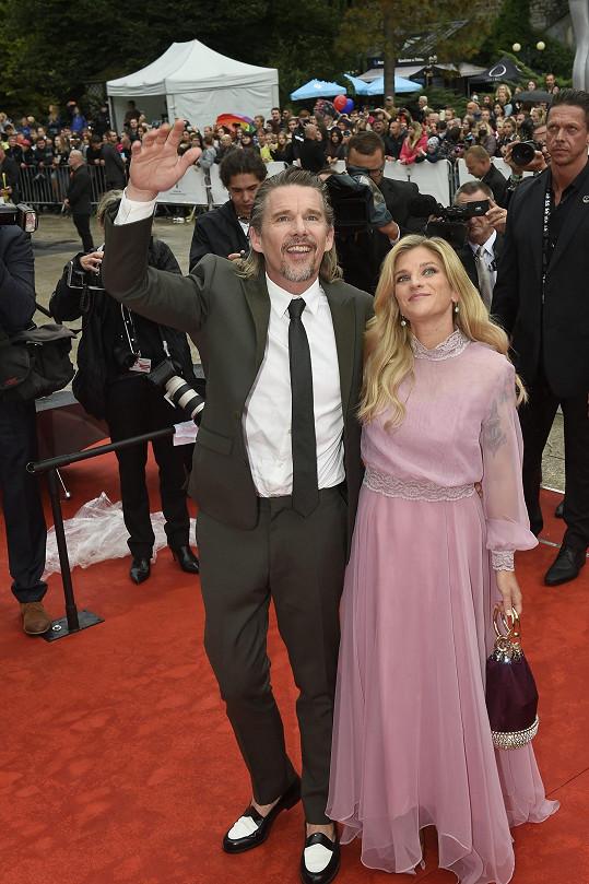 Americký herec se svou manželkou