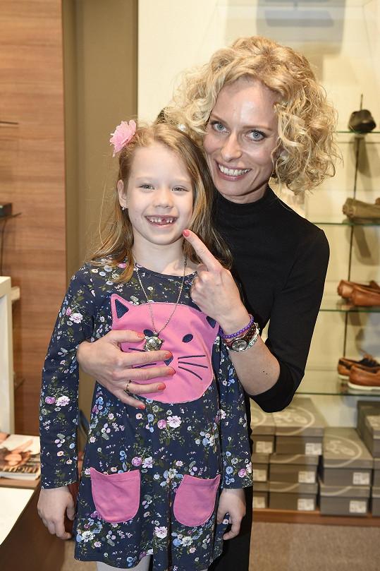 Na akci se objevila také Kristina Kloubková se svou dcerou Jasmínkou.