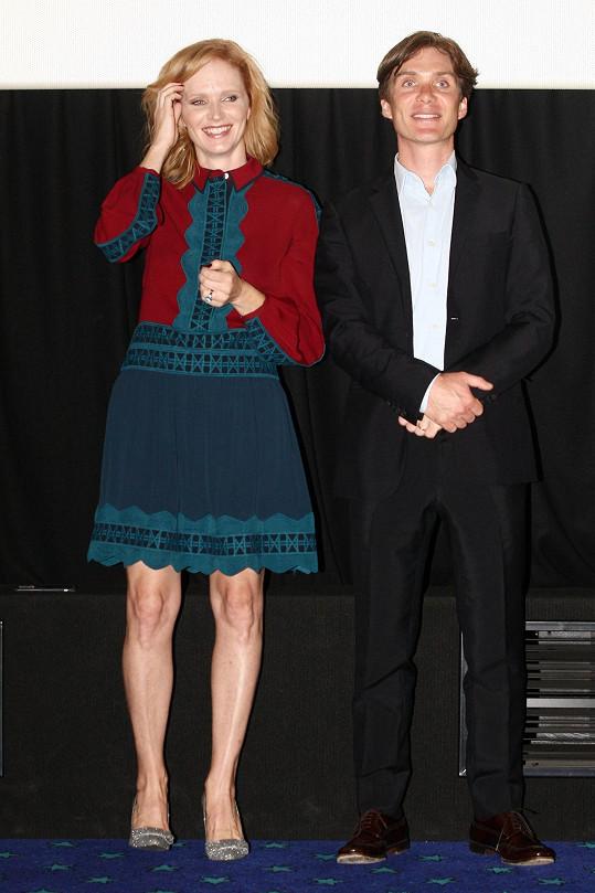 Aňa Geislerová a Cillian Murphy na premiéře filmu Anthropoid v Praze