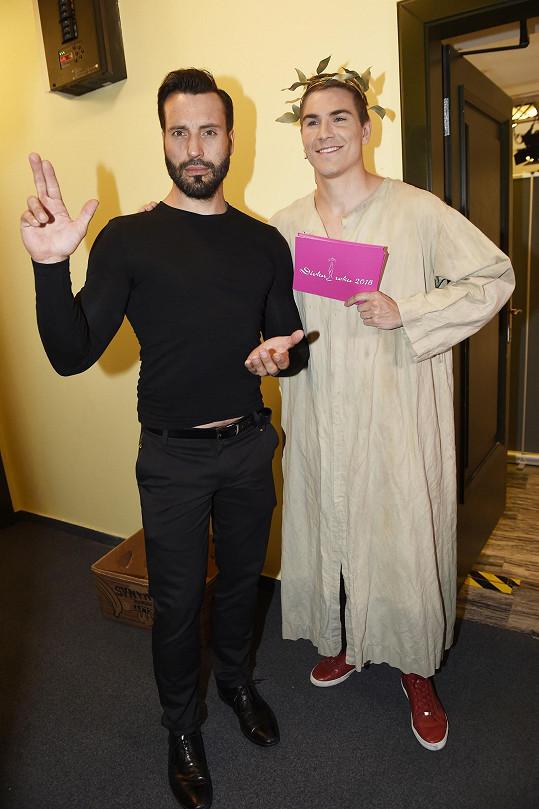 S moderátorem Davidem Gránským se fotil ochotně.