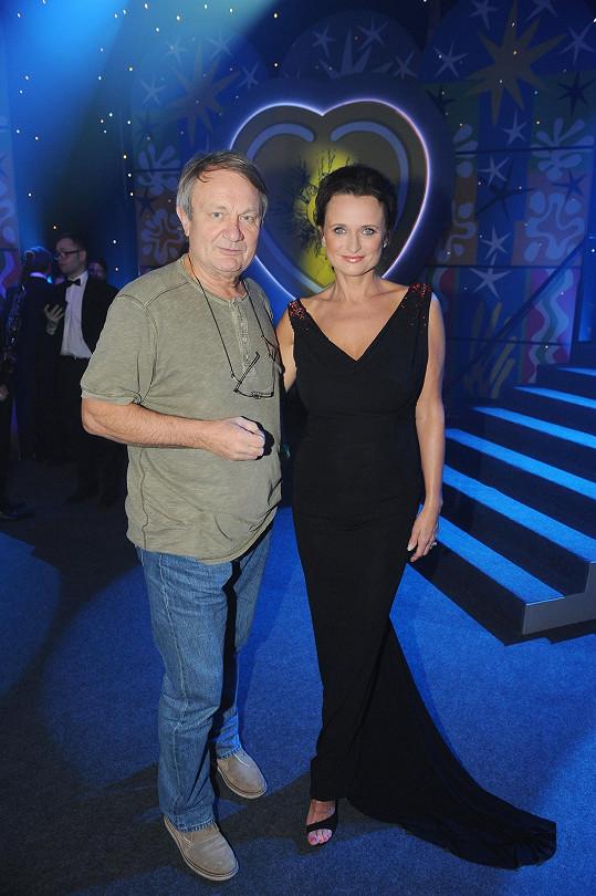 S manželem Jiřím Adamcem