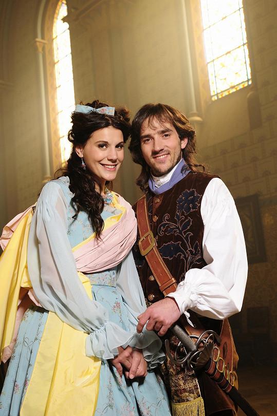 Hrála v pohádce Princezna a písař (na snímku s Matoušem Rumlem).