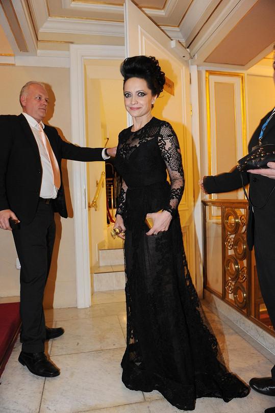 Lucie Bílá v šatech Elie Saab.