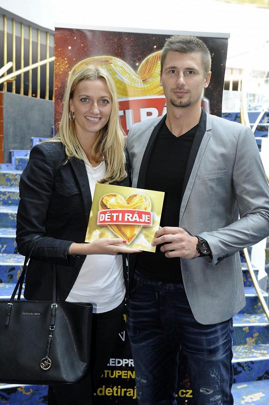 Petra Kvitová s přítelem Radkem Meidlem vyrazili na Děti ráje.