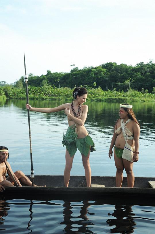 Při expedici se skamarádila s indiány.