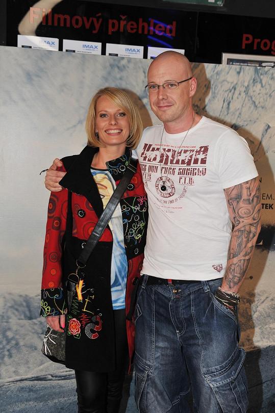 Kristina Kloubková dorazila s přítelem Karlem.
