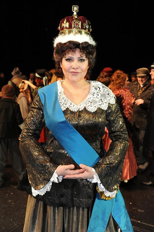Brzy ji uvidíme v muzikálu Přízrak Londýna, kde ztvární sedmdesátiletou královnu Viktorii.