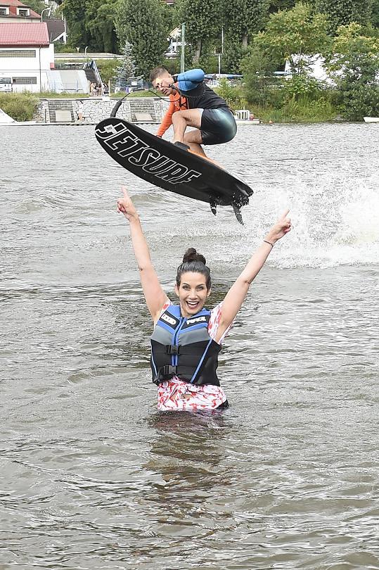 Nový sport si vyzkoušela i Eva a byla nadšená.